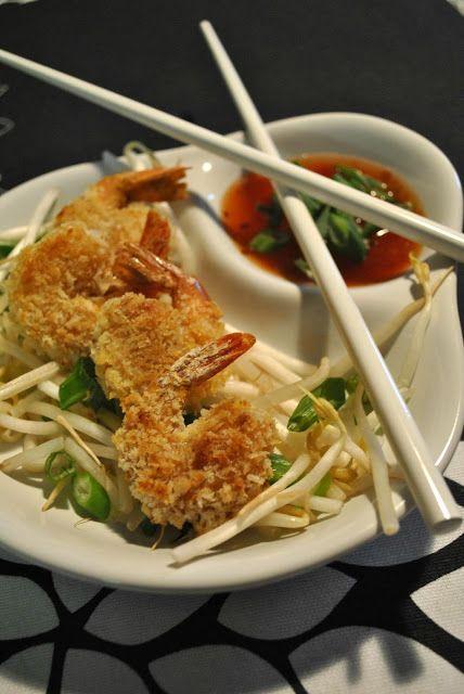 Crevettes croustillantes panko au four et miel épicé