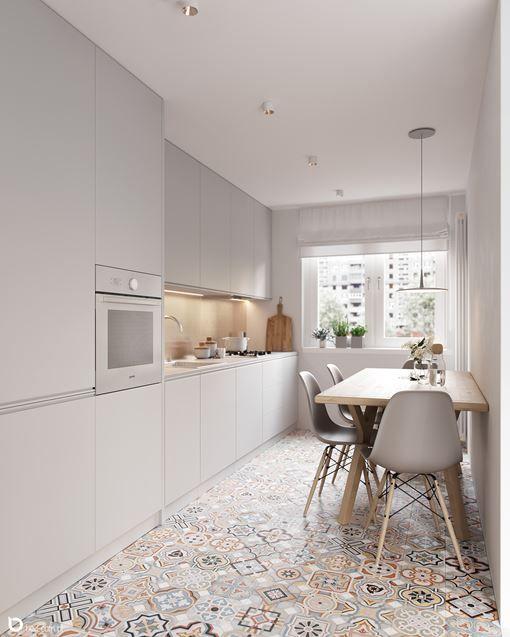 Mala Kuchnia W Bloku Szarosc I Zloto Kitchen Design Kitchen Room Design Minimalism Interior