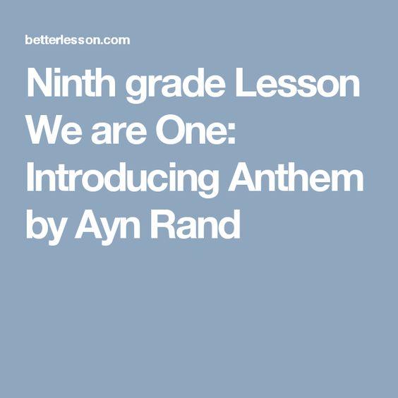 Ayn rand anthem essay contest