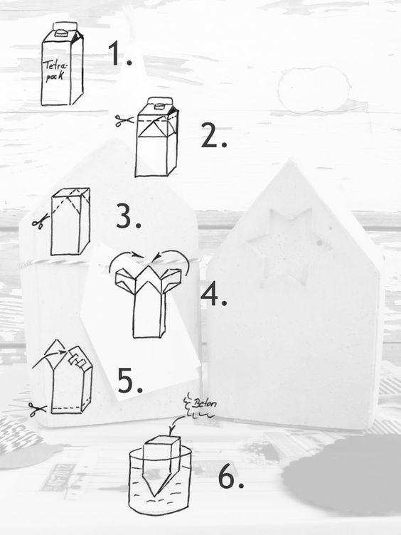 NaturDekoHerz: Aus dem Häuschen - DIY Betonhäuser(form) & 3 Gewinner