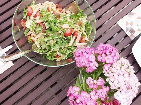 Lovely food ♥ Rucola Nudelsalat & Sommergetränk mit Kokos! | LULUS STERN | Mama-Blog • Mama • Lifestyle