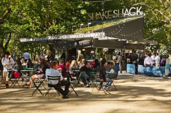 Madison Square Park in New York City - featuring popular fast-food chain Shake Shack - is the 17th most checked-in place on Facebook.