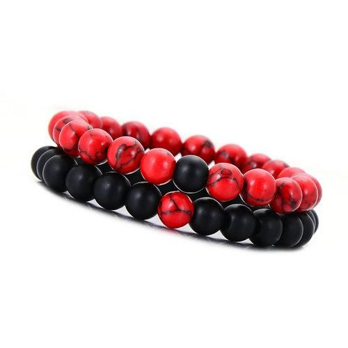 bracelet couple rouge