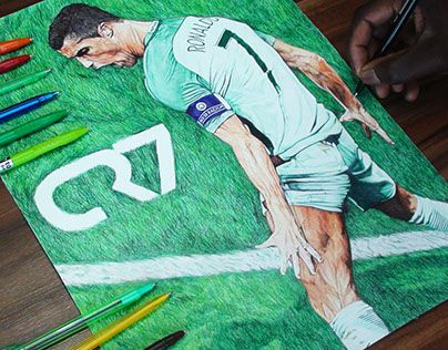 """Check out new work on my @Behance portfolio: """"Cristiano Ronaldo Ballpoint Pen Drawing"""" http://be.net/gallery/40718787/Cristiano-Ronaldo-Ballpoint-Pen-Drawing"""
