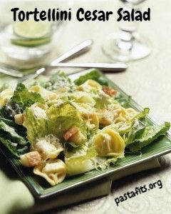 Tortellini Cesar Salad from @PastaFits