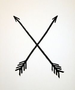 In Native American culture, the crossed arrows meant friendship