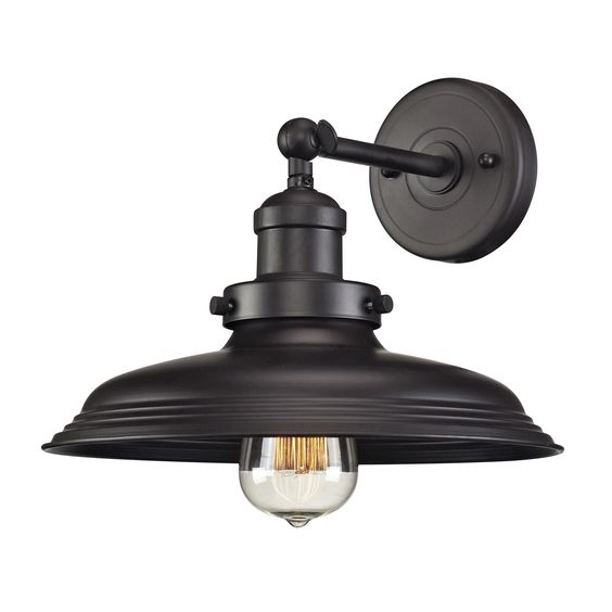 ELK Lighting 55040/1 Newberry 1-Light Sconce, Oil Rubbed Bronze