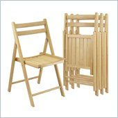 classic look paints well Winsome 4 Piece Folding Chair Set in Beech Finish - 89430
