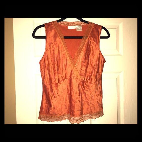 Camisole Orange Cami, 100% Polyester Worthington Tops Camisoles
