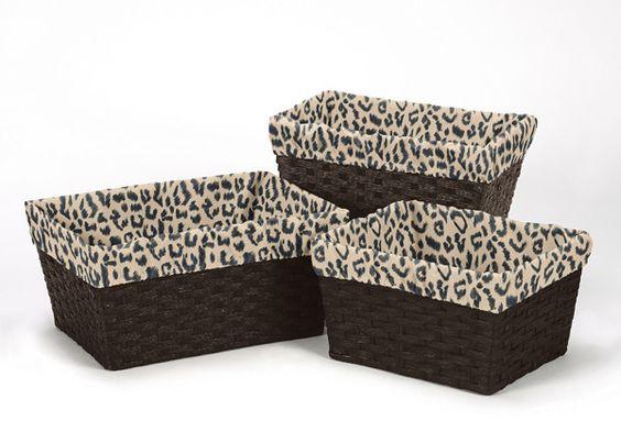 Animal Safari 3 Piece Basket Liner Set
