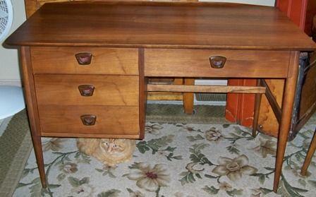 Mid-century pecan desk