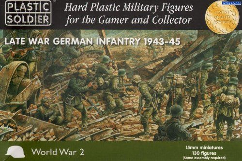 nice Plastic Soldier 15mm WWII German Infantry 1943-45