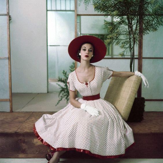 Vintage fashion,1950's: