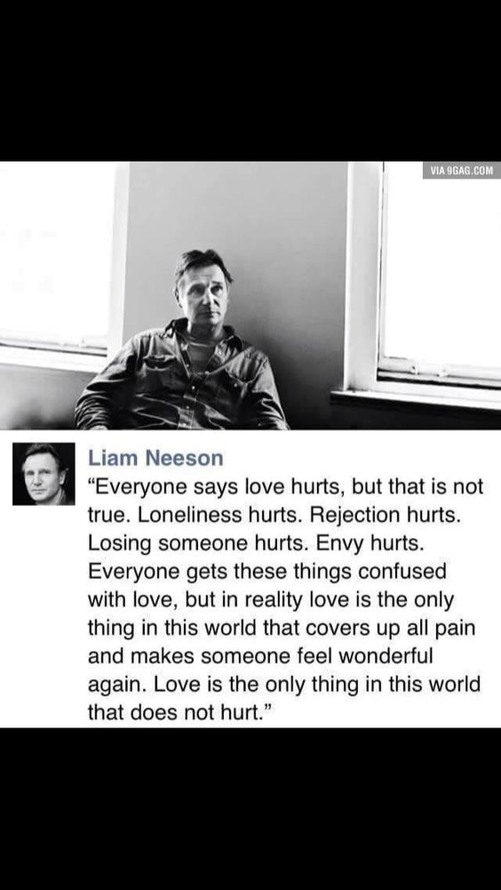 It hurts and heals
