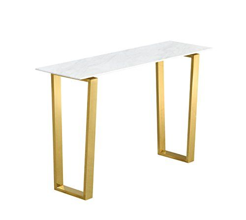 Meridian Furniture 212 D Cameron Rich Gold Stainless Steel Console