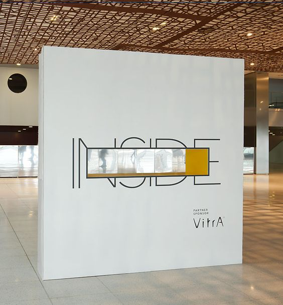 Exhibition Stand Wall : Quot inside entrance wall to exhibition minimalist design