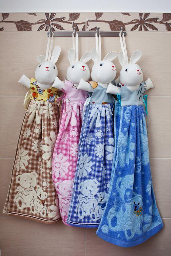 Bunny towel   nice and practical bathroom decor