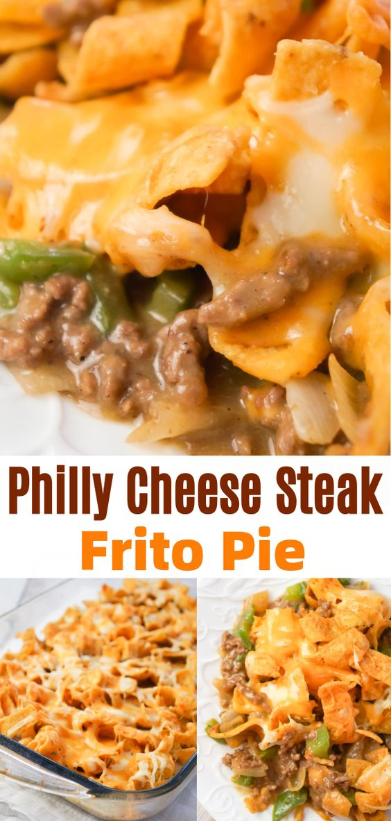 Philly Cheese Steak Frito Pie