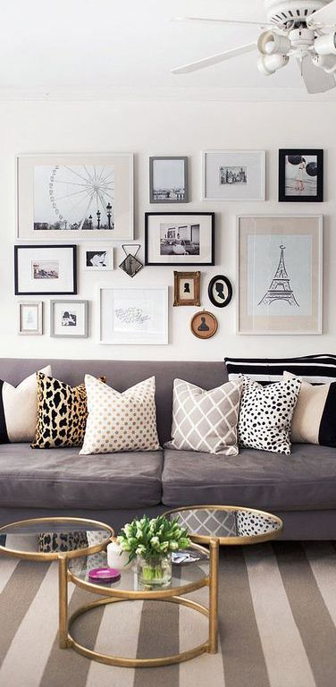 Nothing Is Chic Then A Gray Room With Some Accent Colors