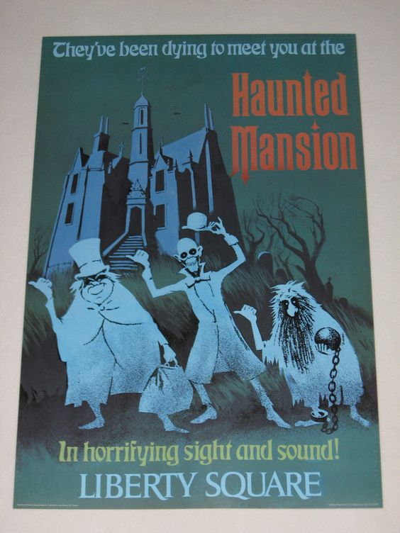 Haunted Mansion Walt Disney World 24x36 Attraction Poster Liberty Square | eBay