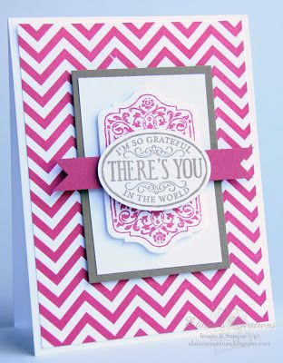 Stampin' Up! Card by Elaine's Creations: Grateful for You Chalk Talk Card