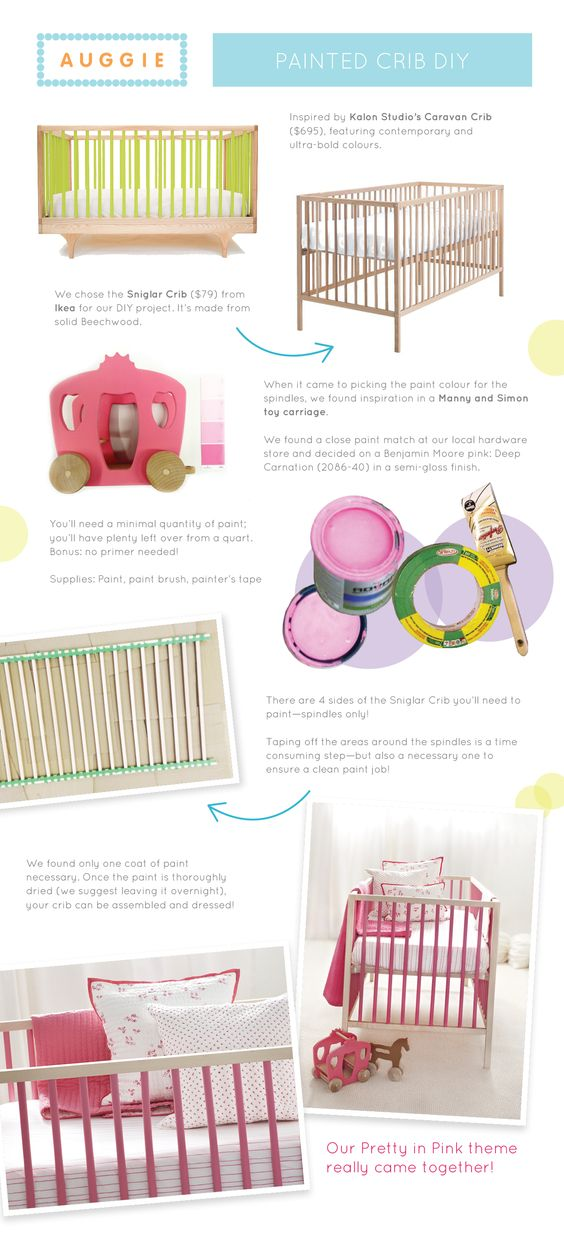 colorful crib diy