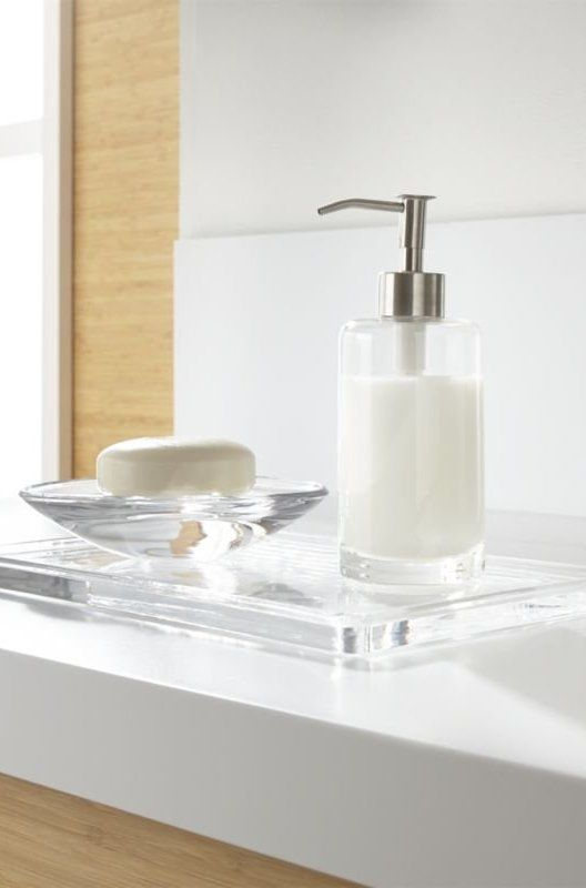 Clear Glass Accessories Bring Clean Utilitarian Design To The