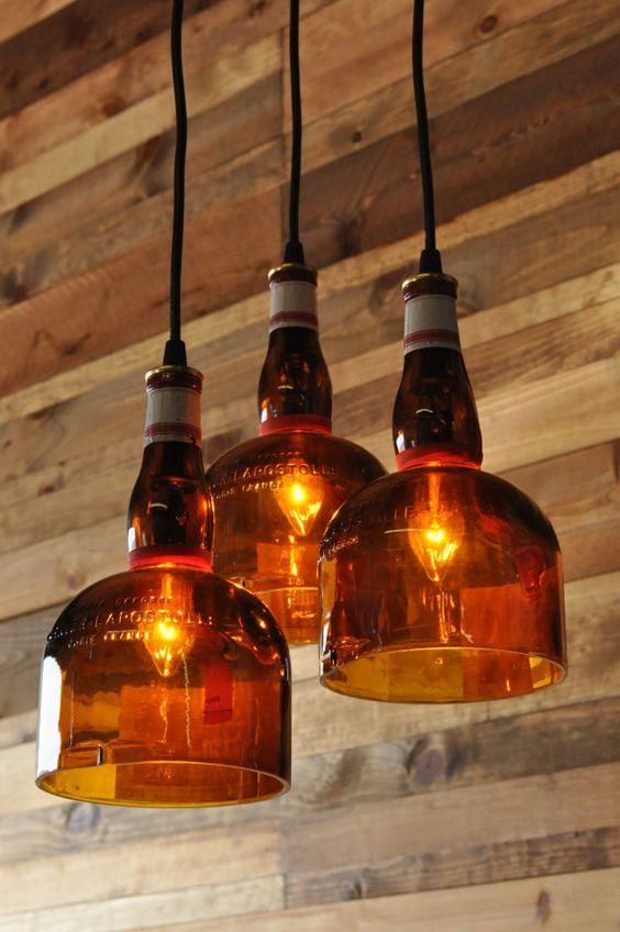 Podemos reciclar e usar garrafas como pendentes! #garrafas #recicladas #pendente:
