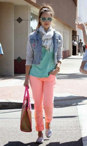 Jessica Abla in pastel colors being fashion forward
