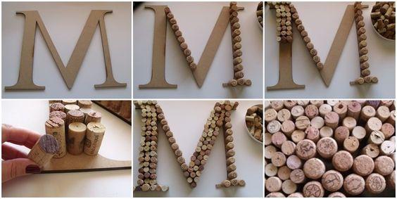 Regalos para mi novio: Este Monograma es precioso!! Creo que no solo para mi novio!! #DIY - Hace click para ver mas manualidades para hacer tu misma!!