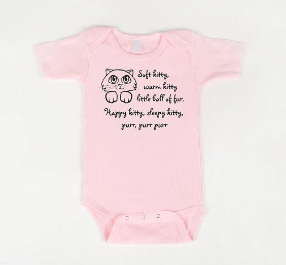 Soft Kitty Bodysuit Pink by geeklingdesigns on Etsy, $18.00