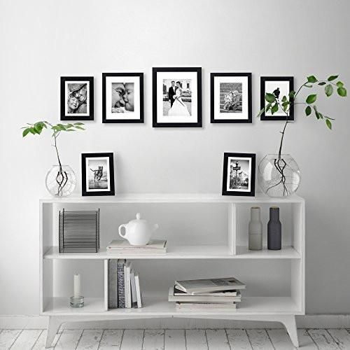 7 Piece Gallery Wall Set Includes 11x14 Inch With 8x10 Inch Matte O Zingydecor Gallery Wall Layout Picture Gallery Wall Gallery Wall Set