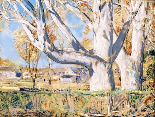 The Giant Ailanthus, October Frederick Childe Hassam - 1931