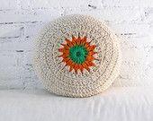Round Pillow Crochet por lacasadecoto en Etsy