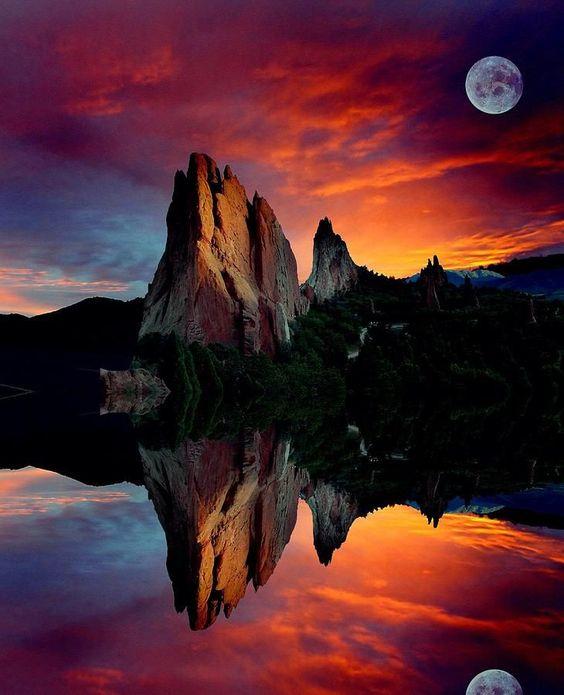 Garden Reflections (Garden of the Gods, Colorado) by John Hoffman