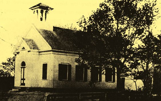 Another picture of the early village schoolhouse.