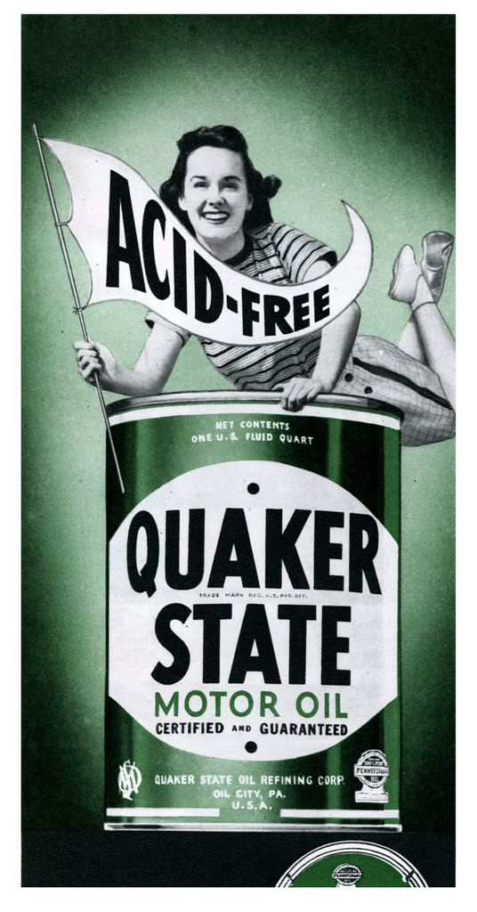 D us states and motors on pinterest for Quaker state motor oil history