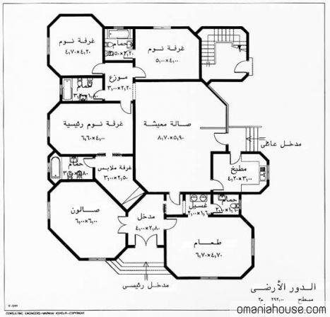 خرائط منازل وديكورات منازل سبلة عمان Villa Plan House Design Floor Plans