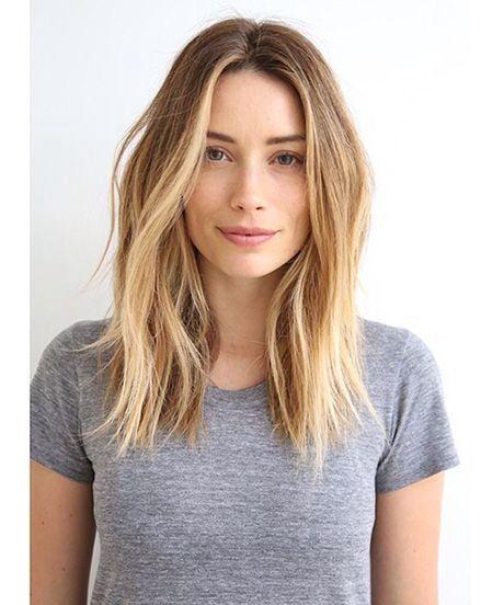 Medium-length, no bangs.:
