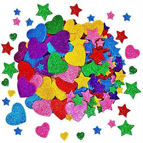 RAINBOW Foam Stickers 3D Shapes Card Making Kids Art Craft Gift Embellishments