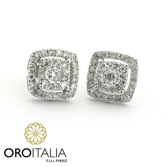 Topos de diamantes en oro blanco.  Para precios llámanos al 302-0269 (Costa del Este) o 303-6625 (Obarrio) ref. 211572.   #oroitalia #joyería #oro #gold #joyeríaspanamá #jewelry #panama #diamonds #diamantes #toposdiamantes #diamondstuds  #aretes #studs #earrings