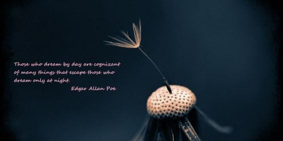 Those who dream by day are cognizant of many things that escape those who dream only at night