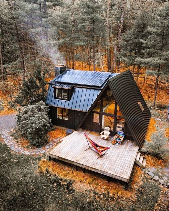 Superbe Cabine A Frame A Louer A 5 Heures De Montreal Cabin Chalet Bois Tiny House Design A Frame House A Frame Cabin