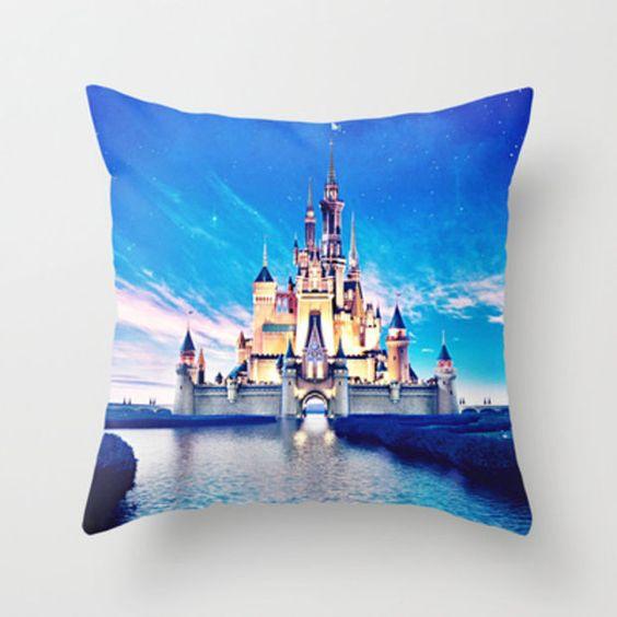 Disney Magic Castle Throw Pillow by Marie Designs