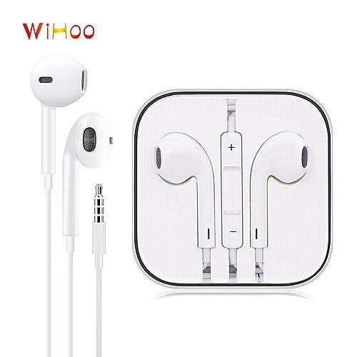 Iphone In Ear Earphones Wired Headphones Earbuds To 3 5mm Stereo Earphone White Apple Earphones Headphones Earphone