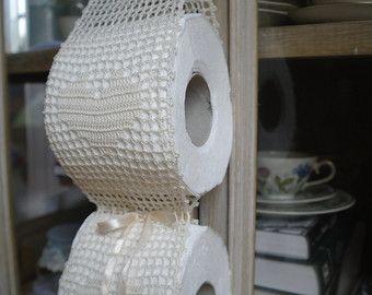 Cream Crochet Paper Toilet Holder Etsy Porta Carta Igienica Carta Igienica Portarotolo Di Carta Igienica