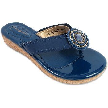 The Libby Navy Cork Sandal By Switch Flops at WilkinsandOlander.com