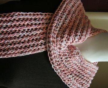 Cotton Knitting Patterns Free : Cotton Twirl Faggot Stitch Scarf - free knit scarf pattern - Crystal Palace Y...