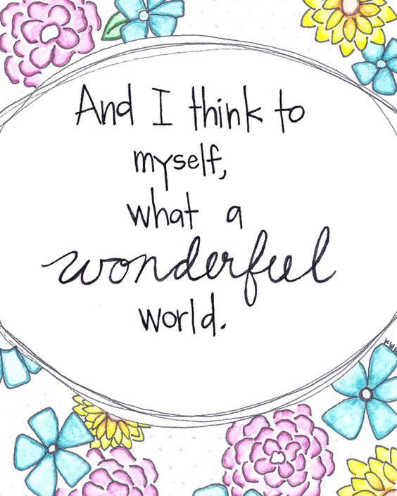 What A Wonderful World Watercolor Prints Nursery Art Mom And My Mom