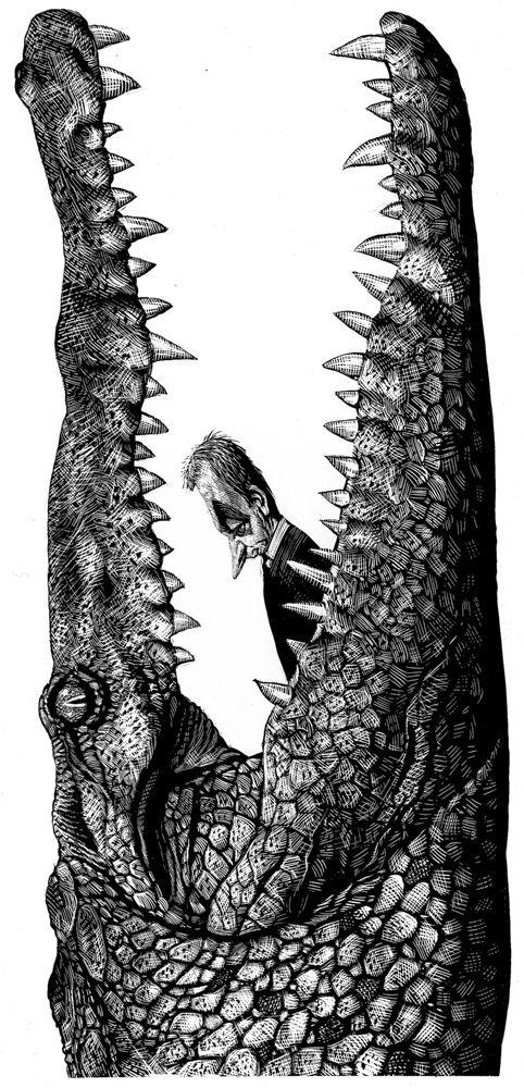 Editorial Illustrations by Ricardo Martinez, via Behance